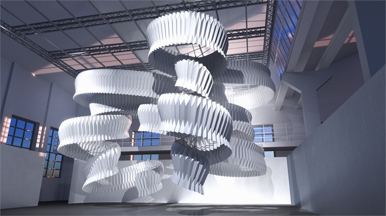 La sculpture de Kengo Kuma absorbe une grande quatité de pollution