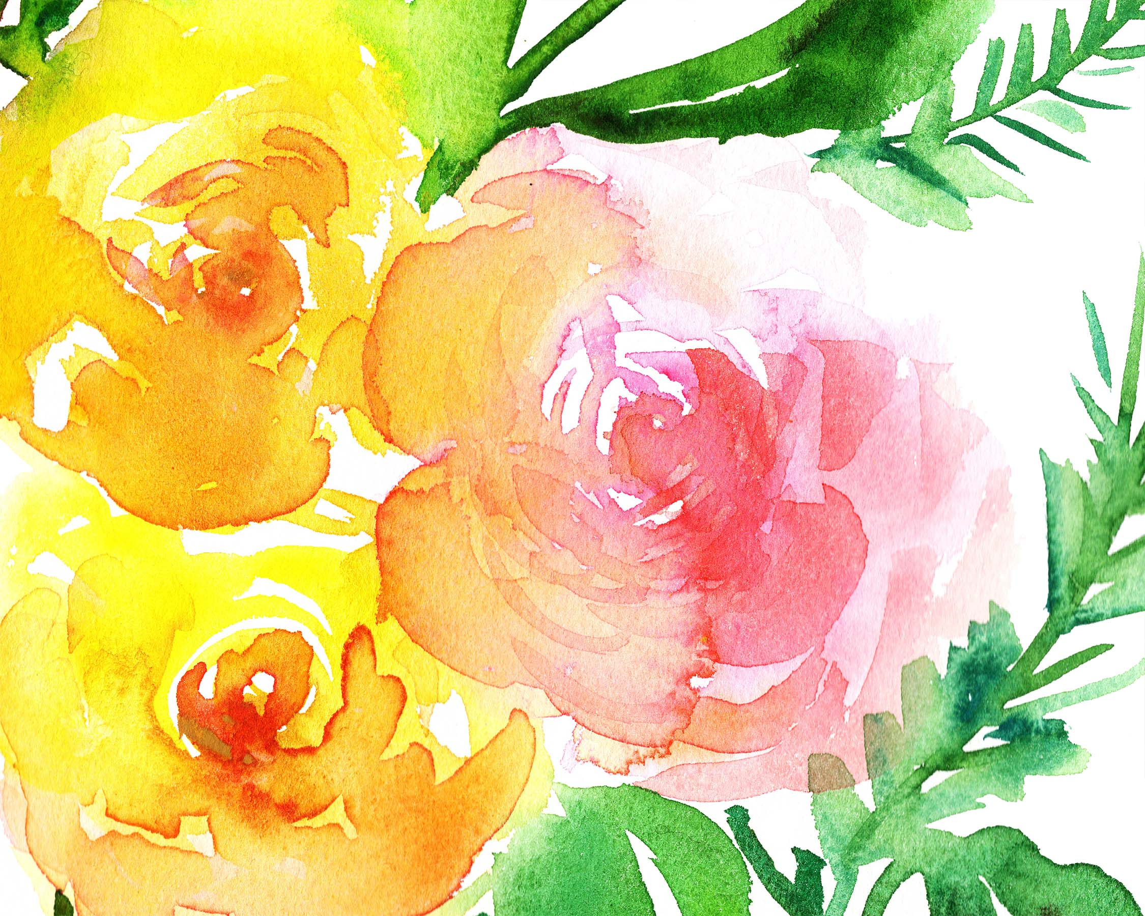 Yellow Roses Detail