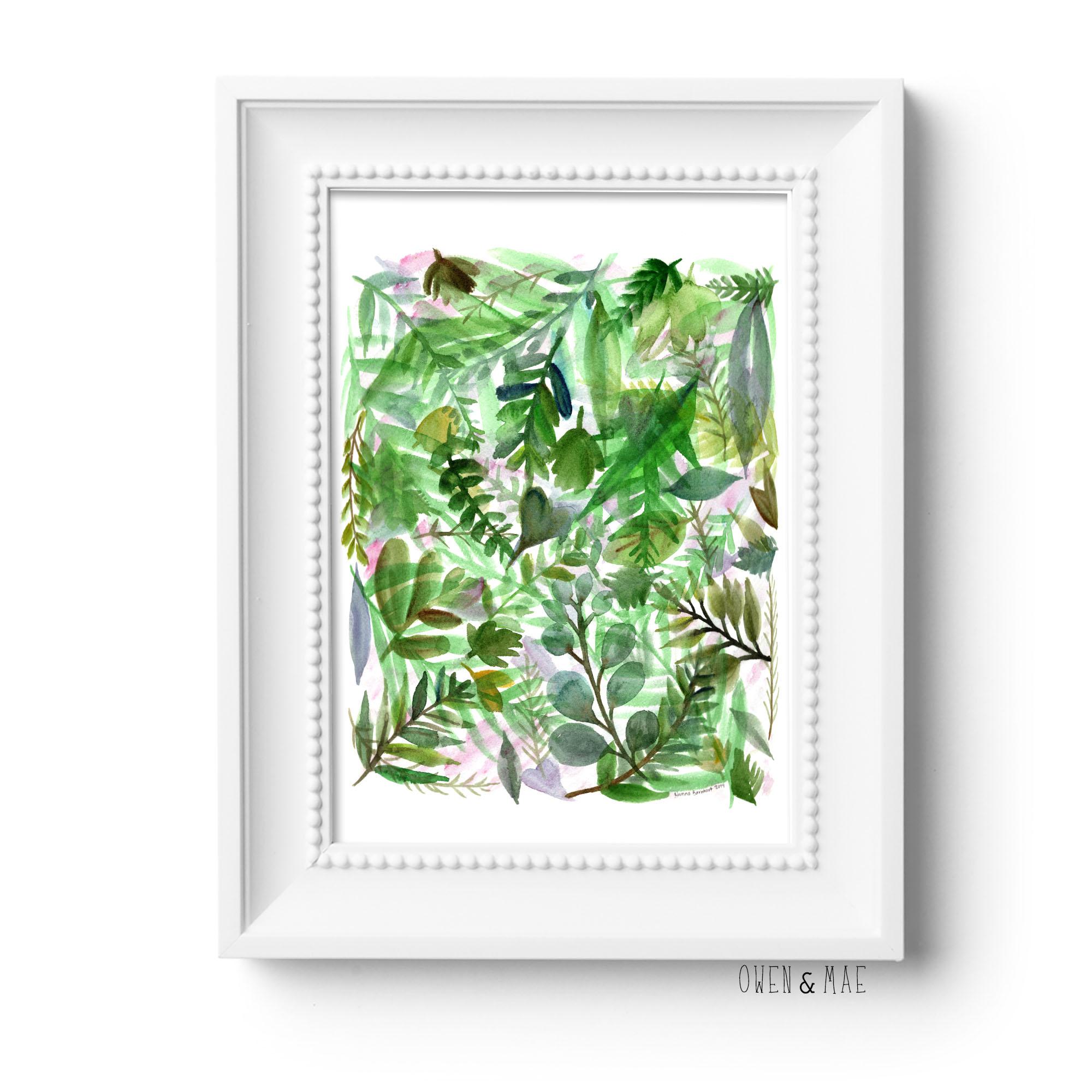 Watercolor Plant Print Plant Love