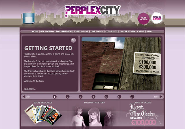 The Perplex City website
