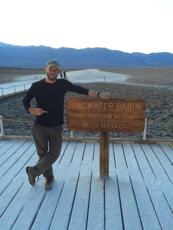 Researcher and historian Kevin Brown at Badwater Basin in January 2015.