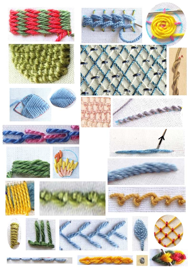 Crewel Stitches : crewel, stitches, Crewel, (Jacobean), Embroidery, Stitches