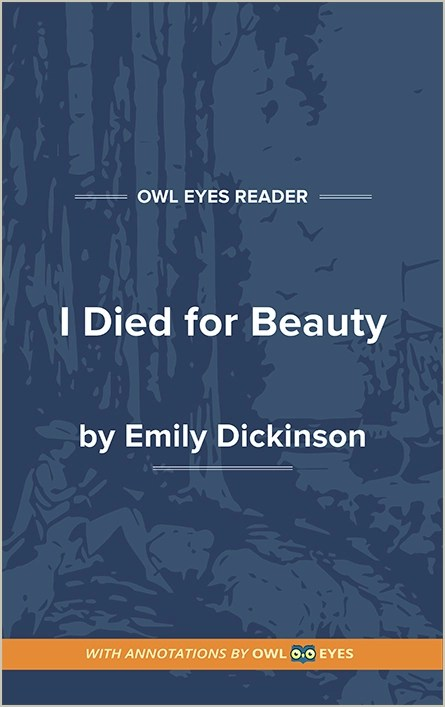 I Died For Beauty : beauty, Beauty, Analysis