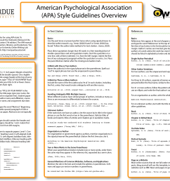 APA Style Introduction // Purdue Writing Lab [ 2592 x 3456 Pixel ]