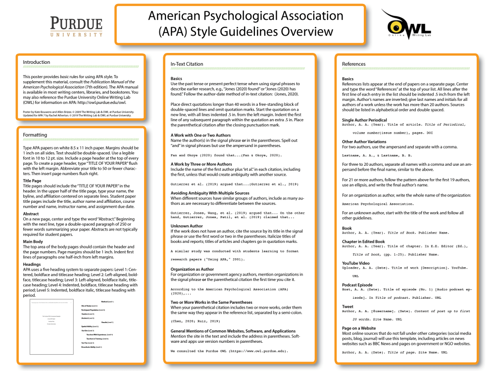 medium resolution of APA Style Introduction // Purdue Writing Lab