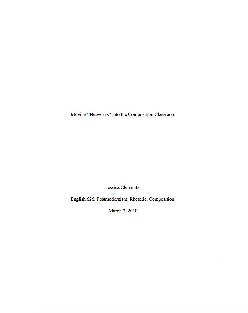 General Format Purdue Writing Lab