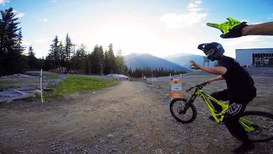 A-Line - Upper at Whistler bike park, Canada