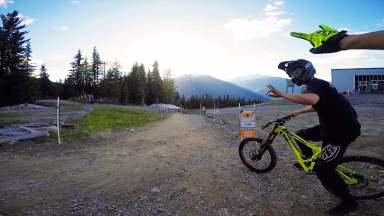 A-Line - Upper at Whistler bike park, Canada