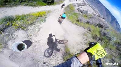 Wrangler bike trail at Kamloops bike ranch, Canada