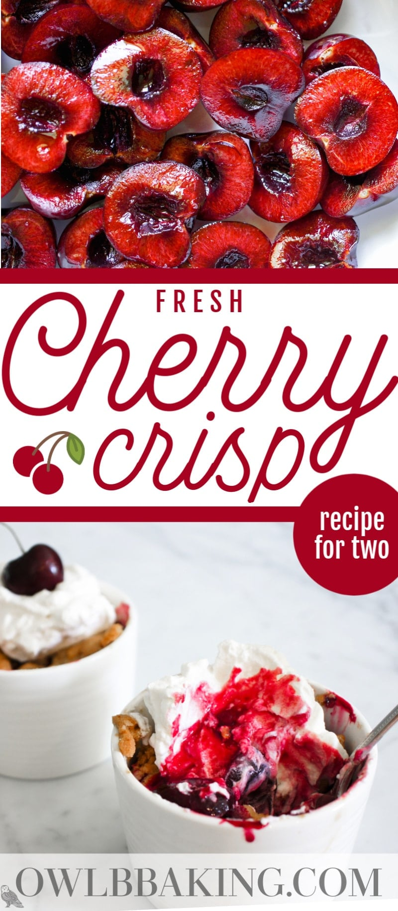 Small Batch Cherry Crisp