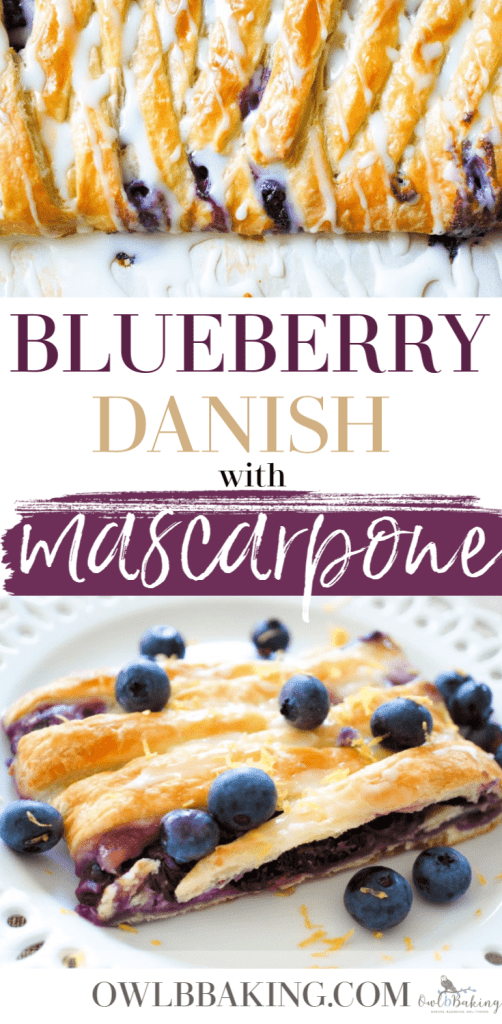 Blueberry danish with mascarpone