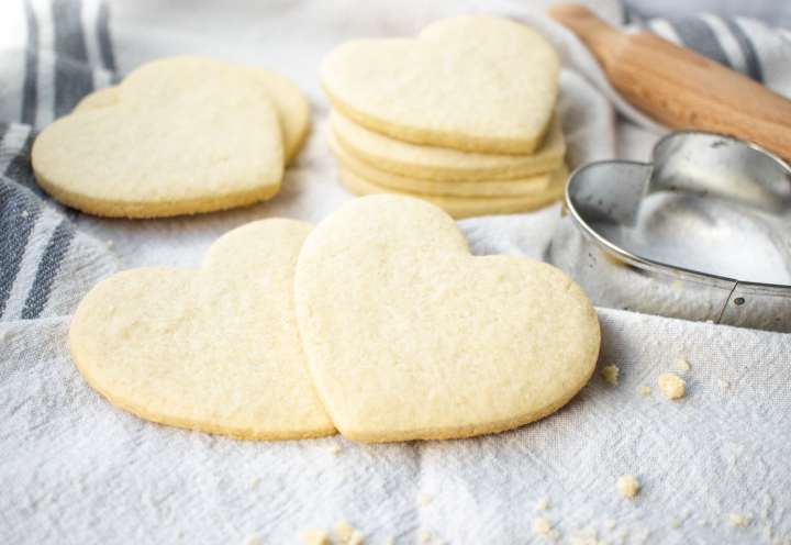 These gluten-free sugar cookie cut outs are great for decorated cookies with royal icing.