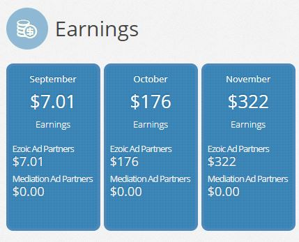 How to create income on your blog using ads- first month of earnings using Ezoic