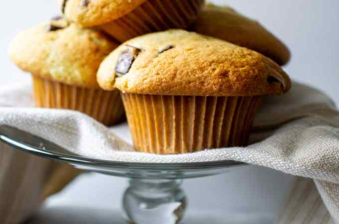 An easy recipe for Bakery Style Chocolate Chunk Muffins.