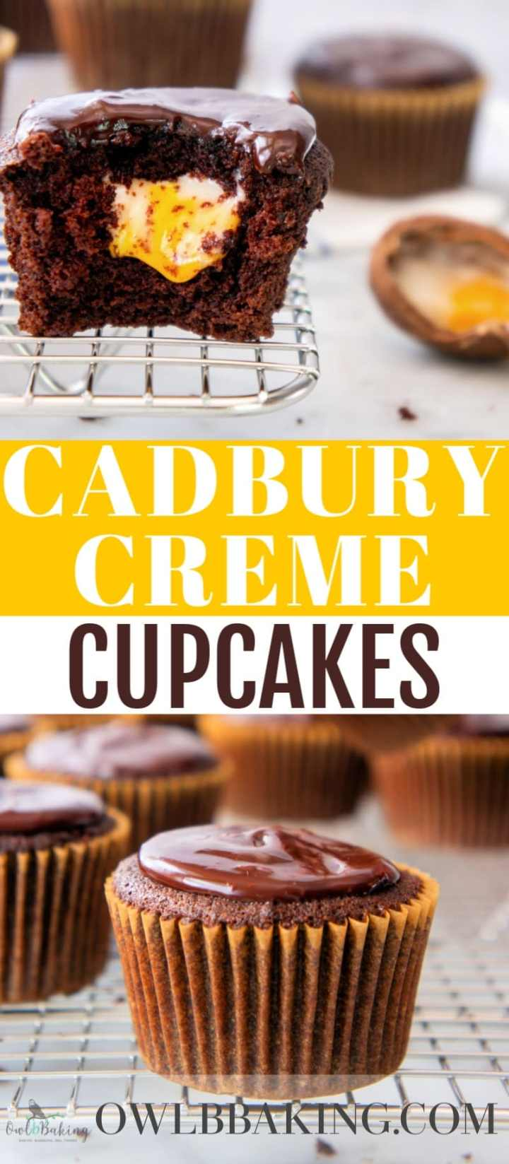 Cadbury Creme Cupcakes