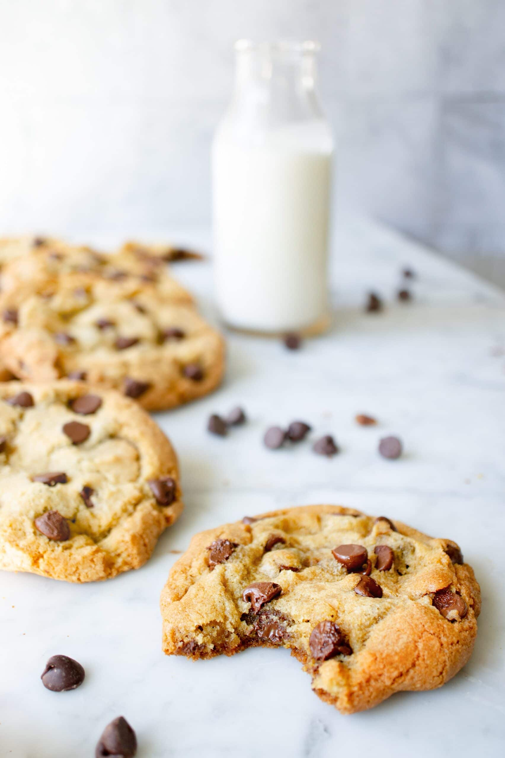 Easy Chocolate Chip Cookies bite
