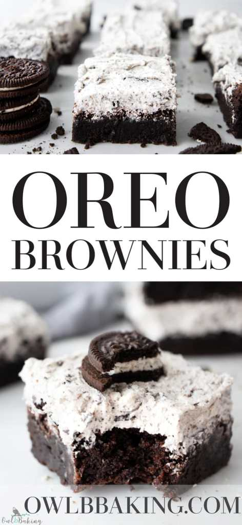 Oreo Brownies, cookies and cream brownies Pinterest
