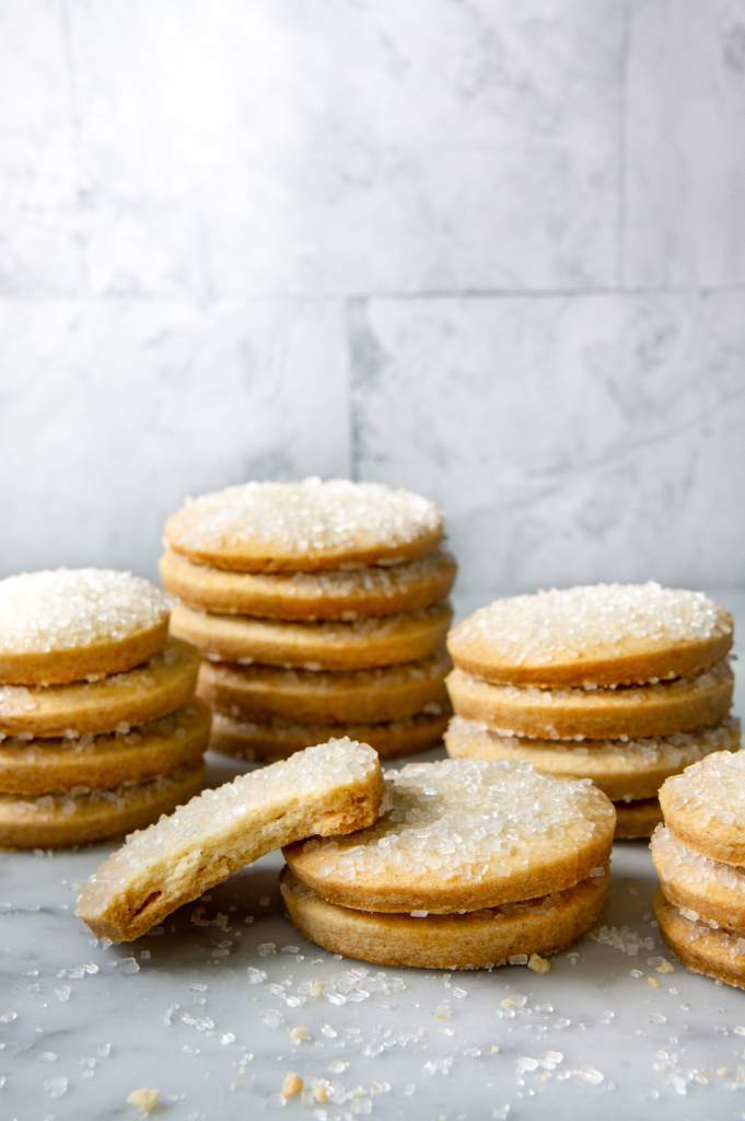French Butter cookies stacked