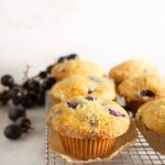 Grape muffins - baking with grapes