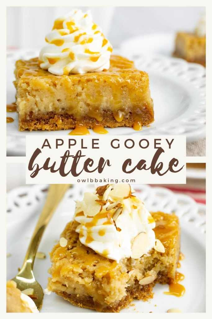 Apple Gooey Butter Cake pin for Pinterest