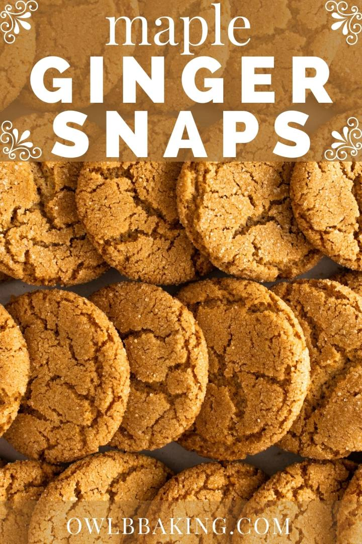 Maple Ginger Snaps