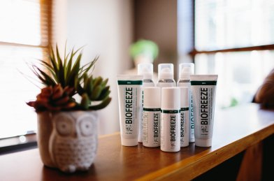 We offer products like Biofreeze, shoe insoles, and pillows to supplement your chiropractic care!