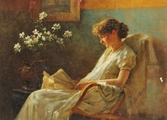 Charles Courtney Curran Reading