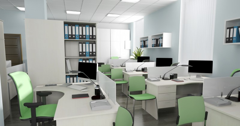 Image of modern led office lighting
