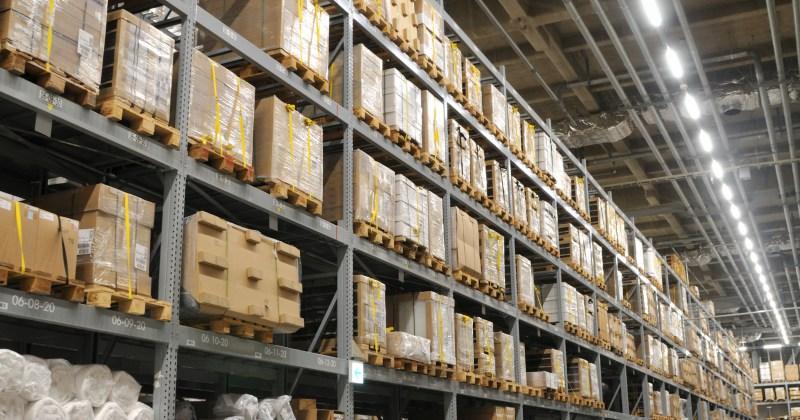 Image of LED warehouse lighting