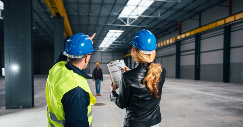 Owled Lighting Solutions Free Site Survey in a warehouse setting