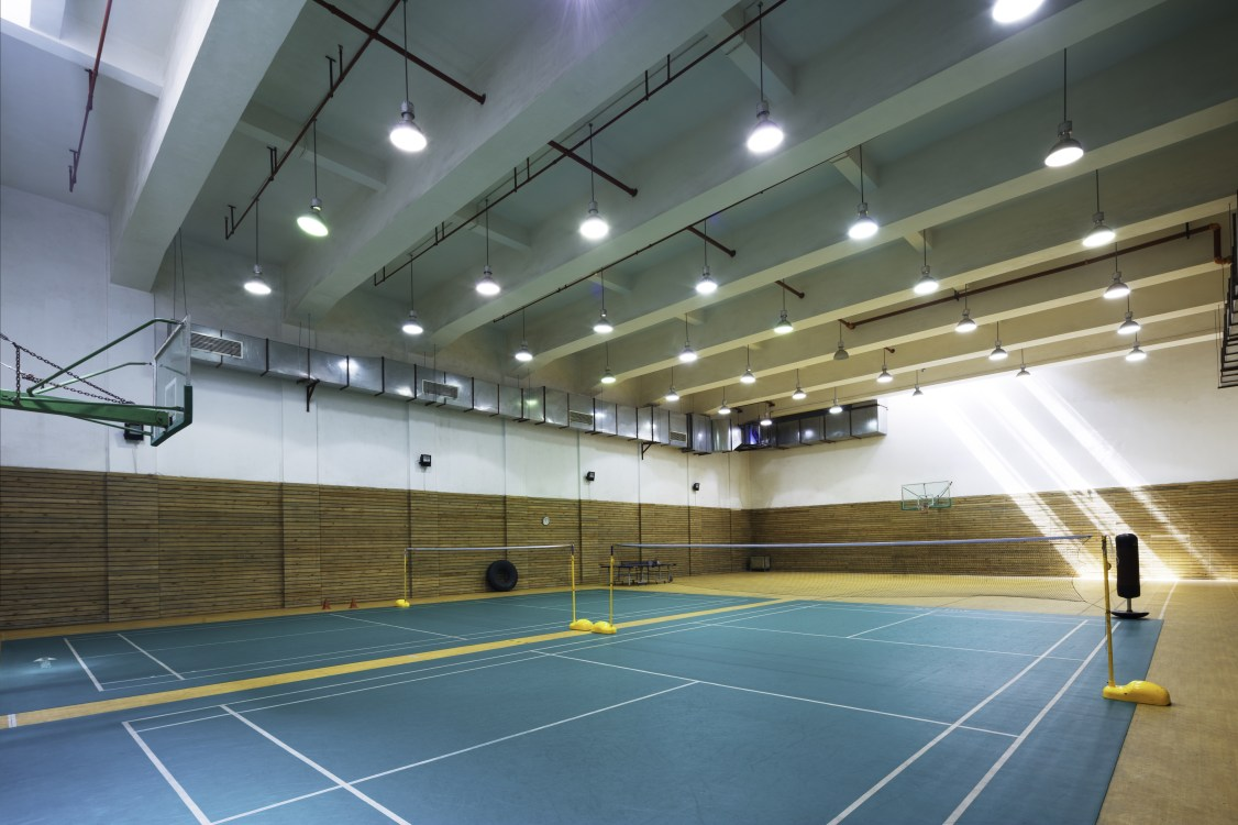 Owled Sports LED Lighting in an indoor setting