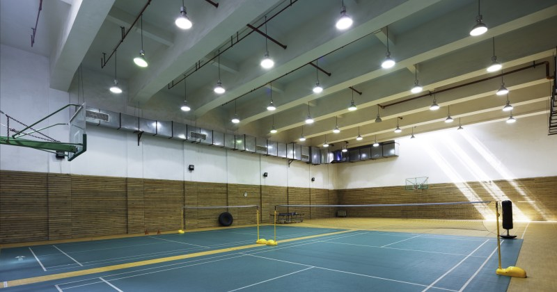 Owled led Sports Lighting in an indoor setting