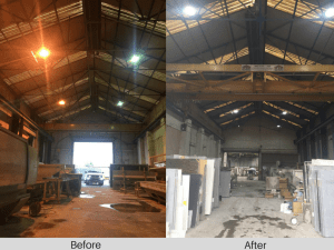 Owled Lighting Solutions have successfully completed a factory lighting project at Natural Granite