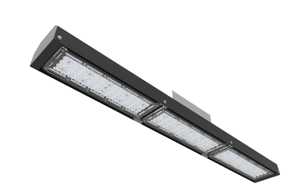 Graphene LED linear bay for industrial lighting