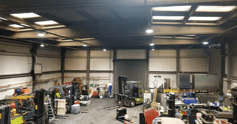 Peterman's new LED warehouse lighting