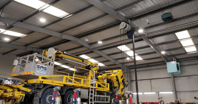 An image of SRS Rail's LED Warehouse Lighting