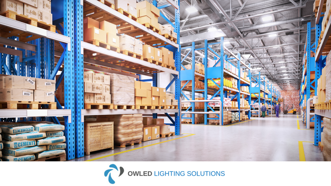 An image showing LED warehouse lighting