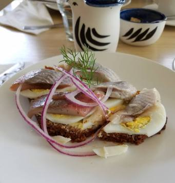 Iceland Reykjavik Cafe Loki smoked herring and eggs on rye bread
