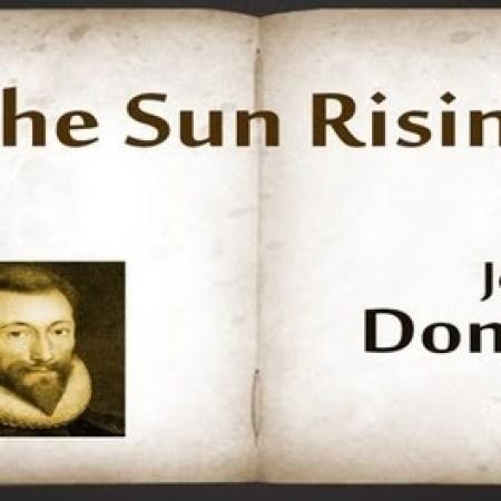 Poetry: The Sun Rising - John Donne 3
