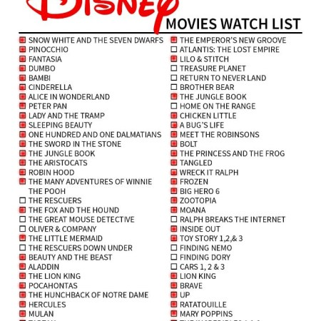 Disney movies I've seen 6