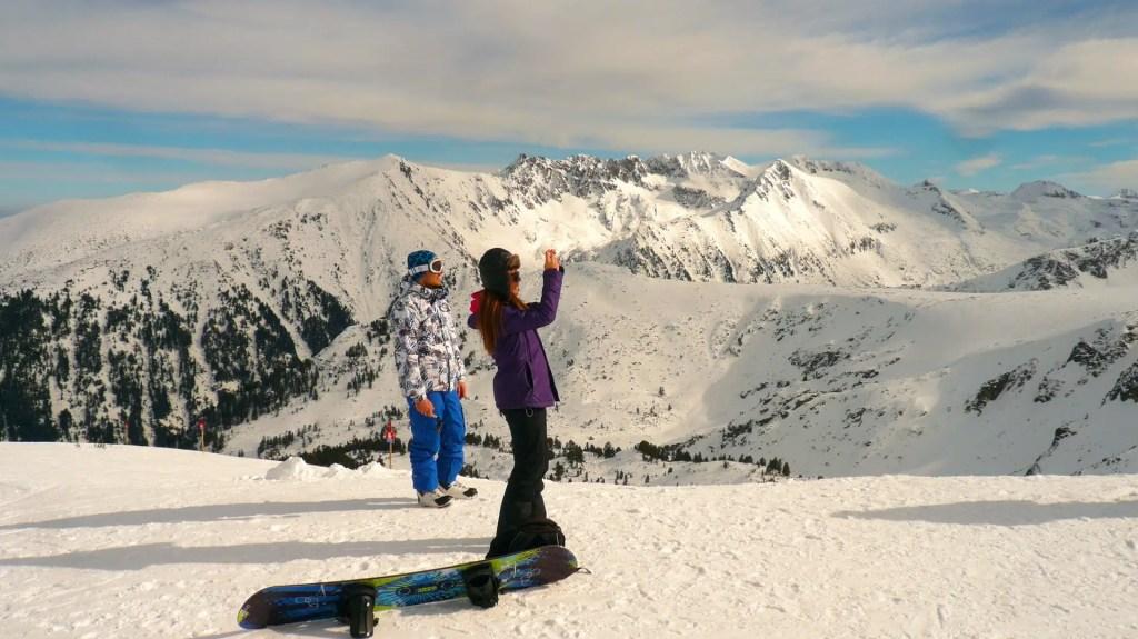 skiing and snowboarding in Basko ski resort, Bulgaria