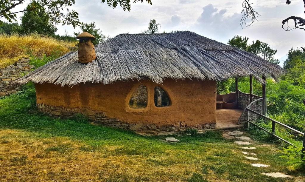 flinstone house in the village of leshten in bulgaria