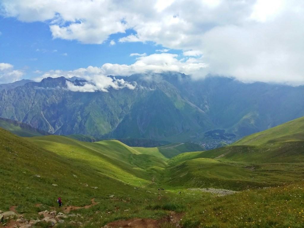 hiking gergeti glacier kazbegi