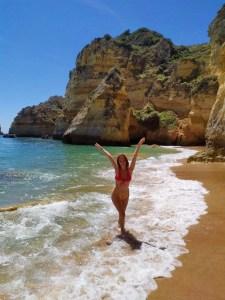 Enjoying the beaches in Lagos, Portugal