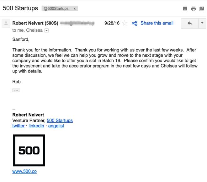 500Startups Invite