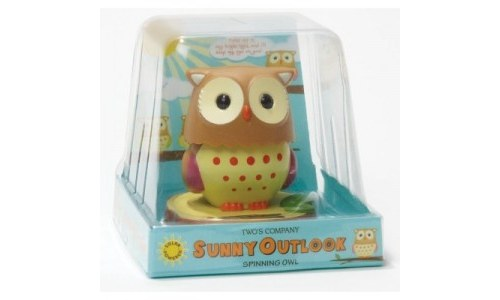 Solar Powered Head Turning Owl in Gift Box