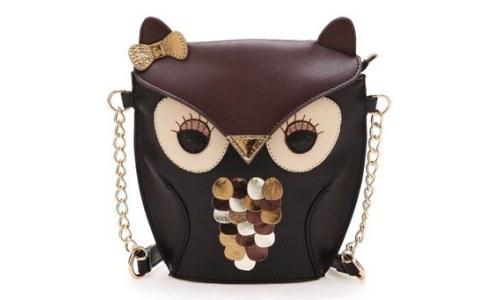 Vintage Style Crossbody Owl Shoulder Bag