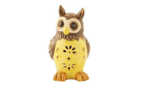 Lovely Ceramic Owl Solar Light