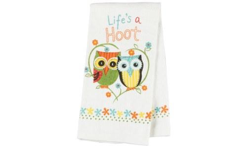 Lifes a Hoot Owl Kitchen Terry Towel