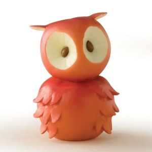 Home Grown Red Apple Owl Figurine